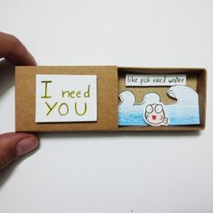 Love card friend card  Card Matchbox Gretting Card Gift by JtranJ