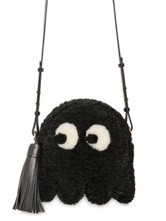 ANYA HINDMARCH - GHOST SHEARLING TASSELED SHOULDER BAG - LUISAVIAROMA - LUXURY SHOPPING WORLDWIDE SHIPPING - FLORENCE