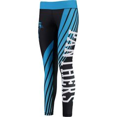 Carolina Panthers Concepts Sport Women's Dynamic Sublimated Leggings - Black/Blue - $64.99