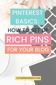 How to set up Rich Pins Entrepreneur, Pinterest For Business, Management Tips, Make Money Blogging, Pinterest Marketing, Blog Tips, Business Tips, Media Marketing, Marketing Strategies