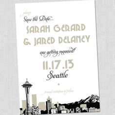 Seattle Save the Dates by South City Press