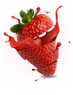 A practice brief involving image manipulation of fruits and splashes. Splash Photography, Fruit Photography, Fruit Splash, Green Tea Diet, Strawberry Breakfast, Food Graphic Design, Food Clipart, Visiting Card Design, Juice Packaging