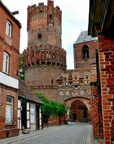 Medieval side of Tangermünde, Sachsen-Anhalt - Germany