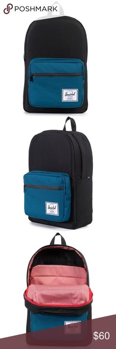 """NWT Herschel PopQuiz Backpack Blue Ink With enough pockets and organizers to settle the mind of the most extreme neat freak, and Herschel's signature style points and durability, this is going to be your go-to pack, day in and day out. Fully lined with our signature coated cotton/poly fabric Fully padded fleece lined 15"""" laptop sleeve pocket Front pocket with internal mesh organizers and key clip waterproof zipper detail Fleece lined sunglasses pocket Internal media pocket Herschel Supply…"""