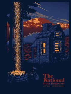Gig Promo: The Best Modern Concert Posters — Cher Amis  The National @ Anciennes Belgique by Dan Grzeca