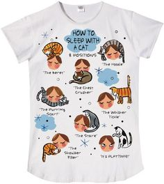 How to Sleep With Cats Sleep Shirt with Gift Bag