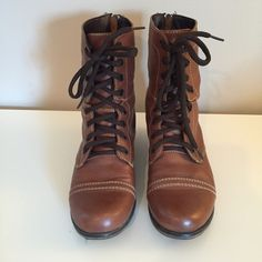 Steve Madden Troopa Boots Steven Madden Troopa combat boots. In excellent condition. Steve Madden Shoes Combat & Moto Boots