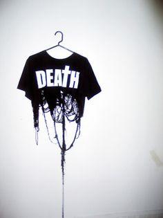 Black destroyed T-shirt