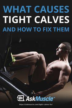 Having trouble with tight calves? Learn how to loosen calf muscles, what causes tightness, and how you can prevent getting them in the first place. Best Stretching Exercises, Calf Stretches, Good Stretches, Muscle Up, Muscle Pain, Gain Muscle, Tight Leg Muscles, Calf Muscles, Calf Pain
