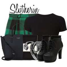 Slytherin from Harry Potter by ginger-coloured on Polyvore featuring Getting…