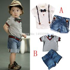 Cheap Clothing Sets, Buy Directly from China Suppliers:Letty baby summer Children baby boys clothing sets kids clothes cotton gentleman bow tie T-shirt denim jeans shorts 3 pc
