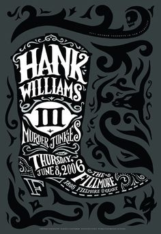 Hank 3 poster.