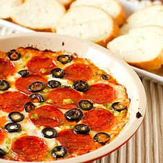 Pizza Dip -- Perfect for Football Season! | via Brown Eyed Baker