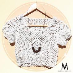 Cropped de crochet e #colarantonella | Mariana Mazzaro crochet