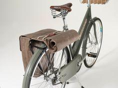 Brooks Brick Lane Roll-Up Panniers Brick Lane, Bike Messenger Bags, Dutch Bicycle, Brooks England, Bicycle Panniers, Bicycle Store, Velo Vintage, Vintage Bicycles, Leather Bicycle
