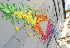 Mademoiselle Maurice origami installations
