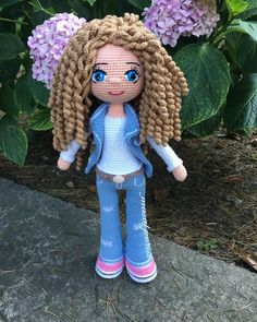 I've added a new one to my amigurumi works, which I have been on a break for a. Crochet Doll Pattern, Crochet Patterns Amigurumi, Amigurumi Doll, Knitted Dolls, Crochet Dolls, Crochet Disney, Knit Art, How To Start Knitting, Doll Tutorial