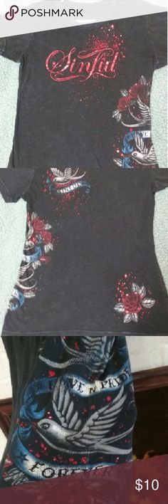 Sinful Shirt Great condition! Beautiful details! Sinful Tops