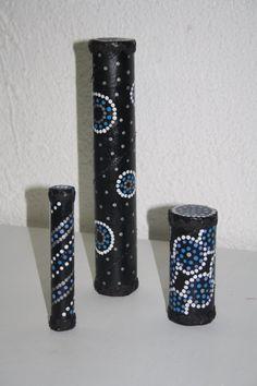 Palos de lluvia con tubos de cartón. Daxalma.