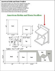 how to build a birdhouse for tree swallows