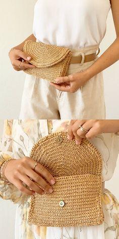 Crochet the belly bag Crocheter le sac de ventre Bag Crochet, Crochet Market Bag, Crochet Handbags, Crochet Purses, Crochet Stitches, Free Crochet, Crochet Patterns, Lv Handbags, Knitting Patterns