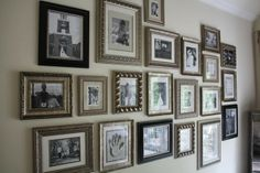 This gallery wall appeals to me. Love the neutral, earthy colors.