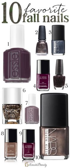 The best fall nail polishes from Essie, OPI, Chanel, NARS and Nails Inc