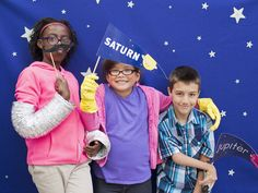 Check out our fun ideas for a space-themed kids party, like a starry photo booth.