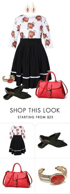 """Retro vibe- plus size"" by gchamama ❤ liked on Polyvore featuring Marc Jacobs, Barse and Monet"