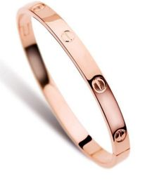 I have this Cartier LOVE bracelet knock off, and I love it! (Comes in rose gold and silver too). 20% OFF with the code PTMTJAN through 02/01!