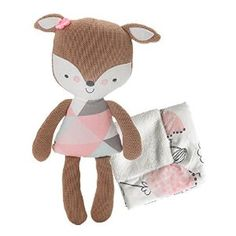 Amazon.com : Lolli Living Softie Plush and Blanket, Fiona Deer : Baby
