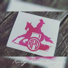 Check out this item in my Etsy shop https://www.etsy.com/listing/287311231/barrel-racer-vinyl-decal-your-choice-of