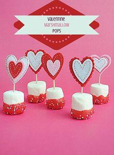 Valentine Marshmallow Pops #valentine
