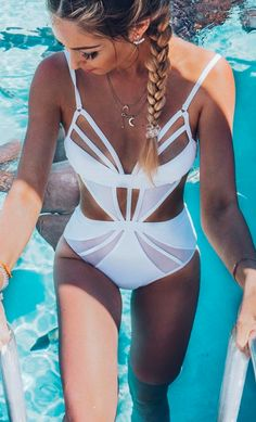 Cut out one piece #swimsuit