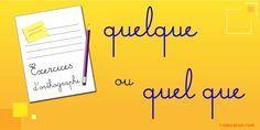 Magnifique contenu sur Exercice Quelque ou Quel que - Apprendre le Français France, Education, Learn French, Language, Onderwijs, Learning, French