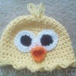 baby-chick-hat-crochet-6-9mo ~ Free pattern