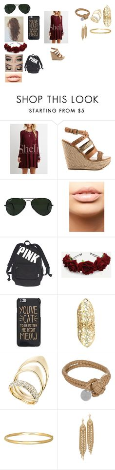 """Maroon and Gold"" by rockinalexis ❤ liked on Polyvore featuring ALDO, Ray-Ban, MDMflow, Victoria's Secret, Urbiana, Alexis Bittar, Bottega Veneta, Everlasting Gold and Capwell + Co"