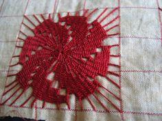 Antique Redwork Needlelace Lace Sampler on by VintageLaceandLinen