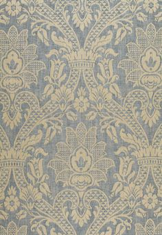 Sheffield Damask Schumacher Fabric. This would be a beautiful fabric to use to cover foam boards for a wall art piece or even a headboard.