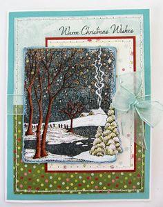 Sunny Summer Crafts: Christmas Card Club #12: Christmas Scene