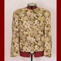 Lodenfrey made in Austria L XL EUR 42 womens floral green blazer jacket Blazer Jacket, Shirt Dress, Floral, Green, Mens Tops, How To Make, Jackets, Shirts, Dresses