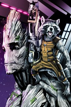 Guardians of the Galaxy - Rocket Raccoon and Groot by Brian C. Roll