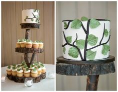 woodsy wedding ideas | your cake or dessert stands check out this diy project on once wed
