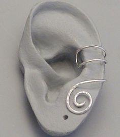 Sterling Silver SPIRAL EAR CUFF by SunnySkiesStudio on Etsy, $19.95