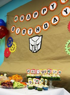 Transformer Rescue Bots Birthday Party-Decorations