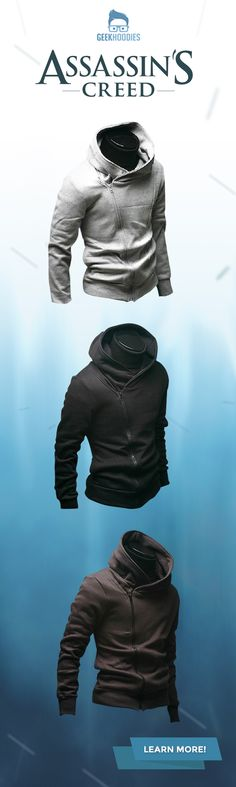 Assassin's Creed I #assassins #geek #hoodie Shop for more awesome hoodies here: geekhoodies.com/