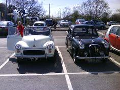 Morris Minor tourer and Austin A35 4 door saloon