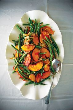 Green Bean and Peach Salad | SAVEUR