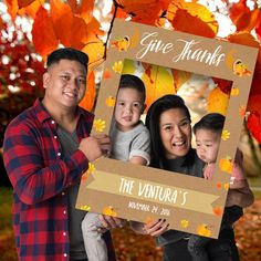 Thanksgiving frame! The perfect prop to gather around for a family photo. Customize & order now at CrowdSigns.com
