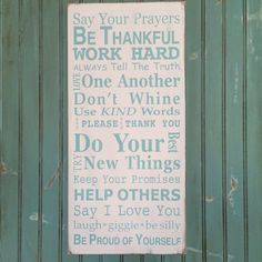 Family Rules Sign Version III  Typography by barnowlprimitives, $95.00